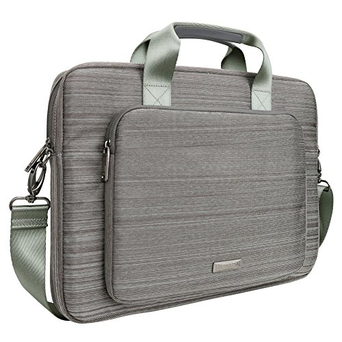 Laptop Messenger Bag, Evecase 15.6 Inch Suit Fabric Multi-functional Briefcase with Shoulder Handle Strap for Laptop Notebook Macbook Pro Computer - (Helios Switch)