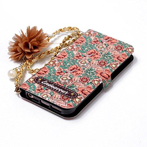 iPhone 5S / iPhone SE / iPhone 5 Hülle Leder, Lomogo Schutzhülle Brieftasche mit Kartenfach Klappbar Magnetverschluss Stoßfest Kratzfest Handyhülle Case für Apple iPhone5S / iPhoneSE / iPhone5 - LOYHU #7