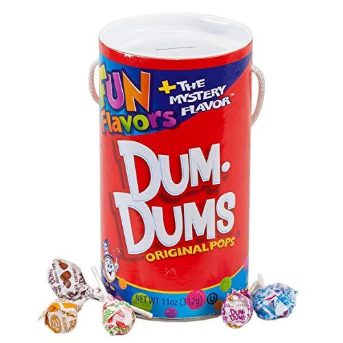 Cardboard Jumbo Tube Coin Bank with Dum Dums Lollipops