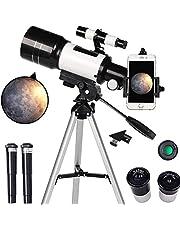 TZUTOGETHER Telescoop voor beginners 150X-15X, Grote Diameter Monoculaire Astronomische Telescoop,70mm HD Refractor Telescoop voor Sterrenkunde, Starter Scope met Statief, Finder Scope, om sterren Moon te observeren