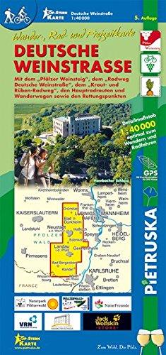 Deutsche Weinstraße: Wander-, Rad- und Freizeitkarte, Maßstab 1:40.000, 5. Auflage