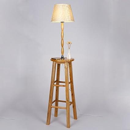 WEBO Home- Paño Plataforma lámparas de pie Sombra de Madera ...
