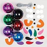 Weihnachtliche Bastelsets für Eulen-Metallkugeln für Kinder Zum Verzieren und Aufhängen – Kreatives, weihnachtliches Bastelset (6 Stück)
