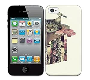 Best Power(Tm) HD Colorful Painted Watercolor The Man With A Head Cat Express Mysterious World Hard Phone Case For Iphone 4/4S