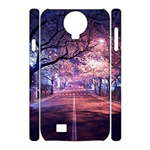 ZK-SXH - Cherry blossoms Diy 3D Cell Phone Case for SamSung Galaxy S4 I9500, Cherry blossoms Personalized 3D Cover Case