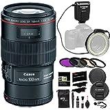 Canon EF 100mm f/2.8L IS USM Macro Lens for Canon Digital SLR Cameras + Polaroid 4 Piece 67mm Filter Kit (UV / CPL / FLD / Warming) + Polaroid Macro Universal Ring Flash + Polaroid Accessory Kit