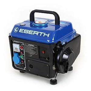 EBERTH 750 W Generatore di corrente (2 CV Motore a benzina a 2 tempi, Monofase, 1x 230V, 1x 12V, Avviamento a strappo… 51 eEH7A wL. SS300