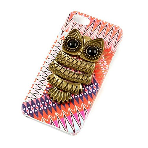 Vintage Owl Medallion Faux Leather Case for iPhone 5 or 5S
