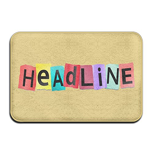 Best deals YOCHOPRO Colorful Headline Errors Non-Slip Absorbent Memory Foam Bath Mat, Toilet Rug