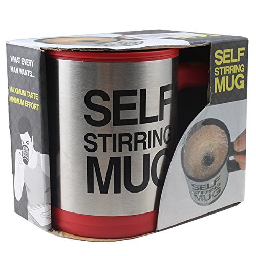 Self Stirring Coffee Mug (Black/Silver) - 1