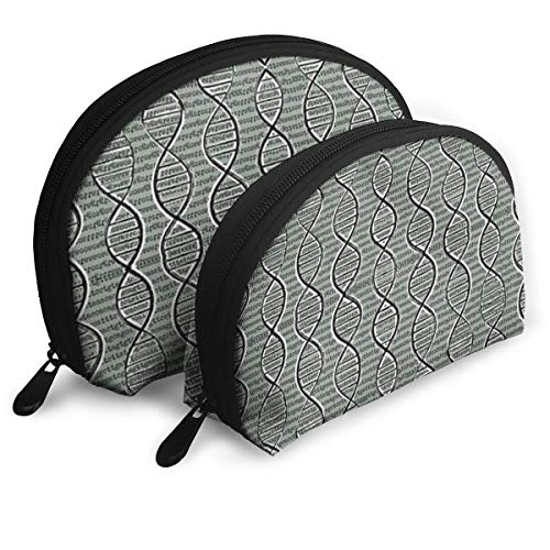 DHSJWIEU23 Double Helix DNA Portable Bags Clutch Pouch Storage Bag Coin Purse Travel Bag Handbag Women's Bag One Big One Small Cosmetic - Clutch Helix