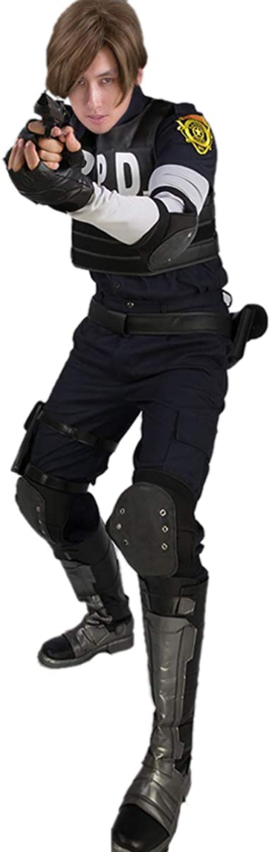 Amazon Com X Costume Resident Evil 2 Remake Cosplay Re 2 Leon