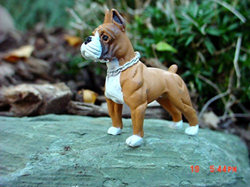 Boxer Dog Miniature Figure 1/24 Scale G Scale Diorama Accessory Item Bachmann G Scale White Christmas