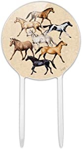 GRAPHICS & MORE Acrylic Horses Cake Topper Party Decoration for Wedding Anniversary Birthday Graduation