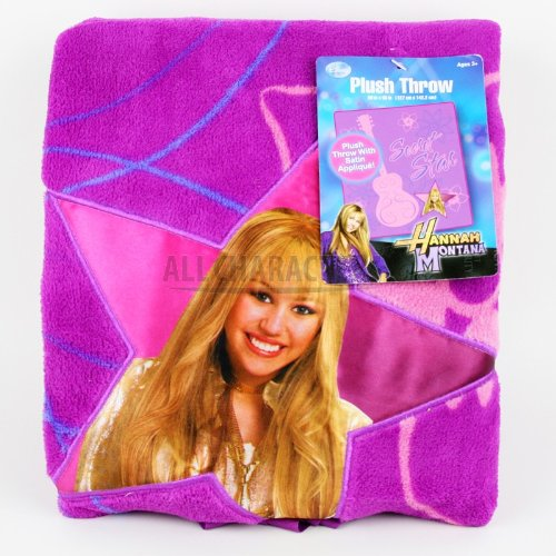 Hannah Montana Thick Plush Satin Twin Bed Throw Blanket (Hannah Montana Blanket)