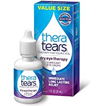 TheraTears Eye Drops for Dry Eyes, Dry Eye Therapy Lubricant Eyedrops, 30 mL, 1 Fl oz Value Size; provides long lasting relief