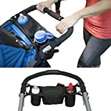 FakeFace Multi-function Baby Stroller Organizer Storage Bag Waterproof Pram Pushchair Cup Holder Stroller Buggy Bottle Drink Food Console Tray Hanging Storage Pouch Handle Hanging Pallets Diaper Bag