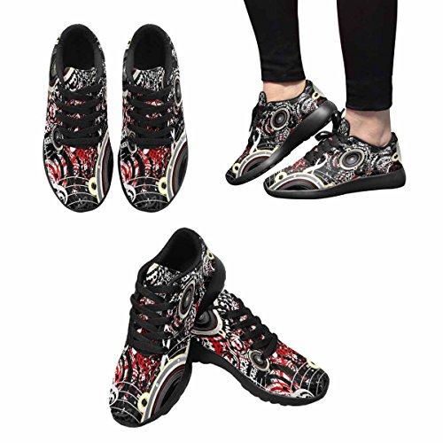 Scarpe Da Trail Running Da Donna Interesse Jogging Leggero Sportivo Da Passeggio Sneaker Atletico Sfondo Musicale Multi 1