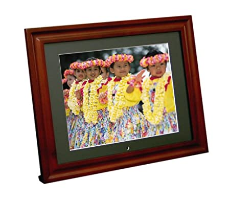 amazoncom portable usa pu 10wb 104 inch 256mb bluetooth enabled digital picture frame with two wood frames camera photo