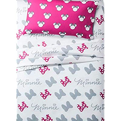 Franco Minnie Mouse Gray & White Sheet Sets (Twin): Home & Kitchen