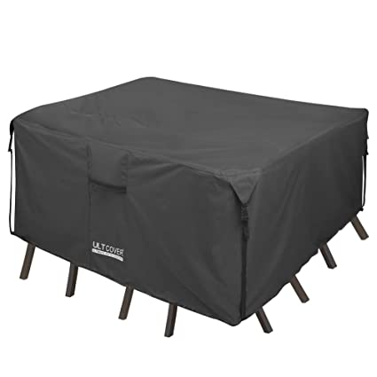 Amazon Com Ultcover 600d Pvc Durable Square Patio Table With Chair