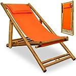 Wooden deck chair - Bamboo - pillow i...