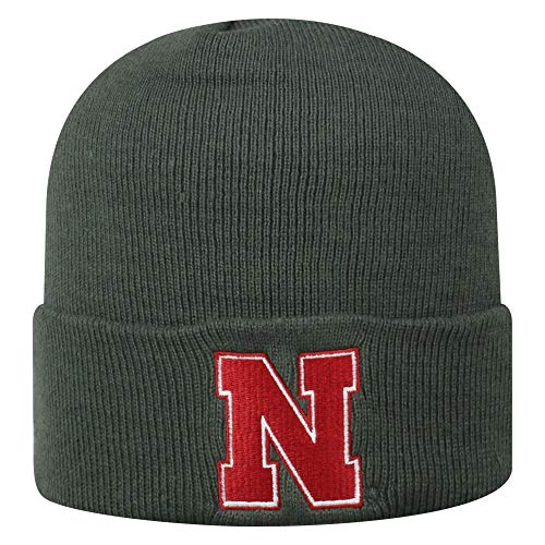 - Top of the World Nebraska Cornhuskers Men's Winter Knit Hat Icon, Charcoal, One Fit