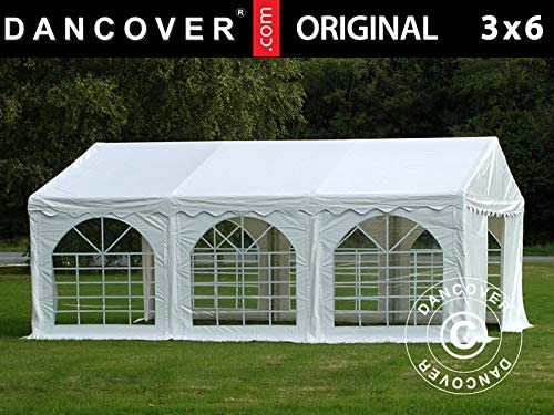 Dancover Carpa para Fiestas Carpa Eventos Original 3x6m PVC, Blanco: Amazon.es: Jardín