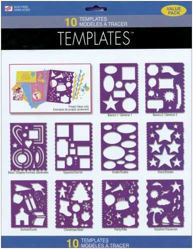 Scrapbook Designer Templates Value Pack, 10/Pkg: Assorted Themes - Westrim Value Pack