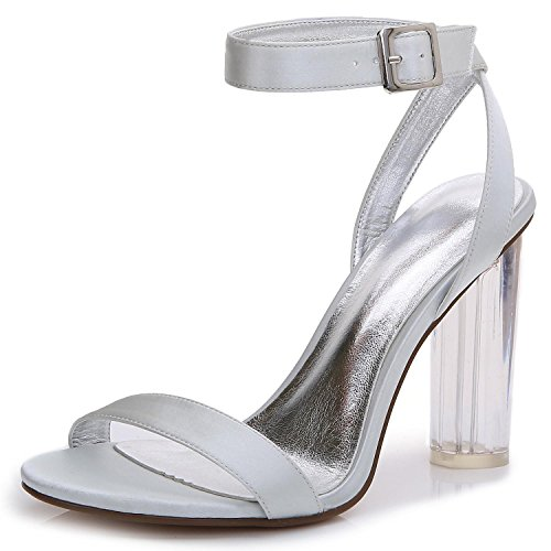 Raso Sposa Cristallo Donna Scarpe In 2615 E Night Silver Toe 14 Office Estate L Grezzo D yc Peep Primavera Sposa Carriere Da Con w6IAYZ