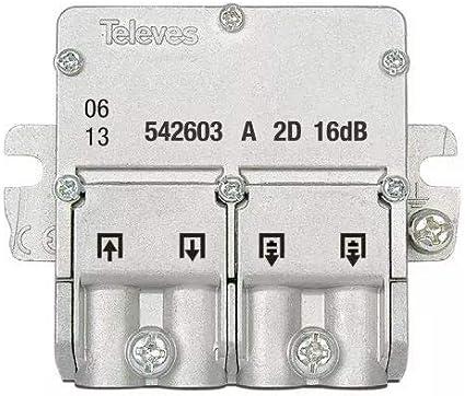 Televes 542603 - Mini derivación 5 2400mhz easyf 2D 16db a ...