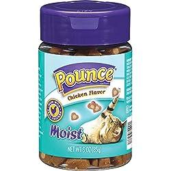 Pounce Cat Treats, Moist Chicken Flavor, 3 Ounce (Pack Of 10)