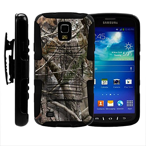 S4 Active Case, S4 Active Holster, Two Layer Hybrid Armor Hard Cover with Built in Kickstand (S4 Cases Active Galaxy Samsung)