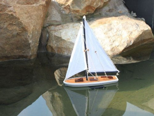 White Model Sailboat - Wooden It Floats 12