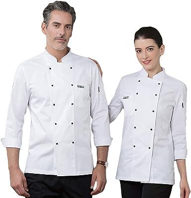 SK Studio Unisexo Algodón Manga Larga Chaqueta Cocina Uniforme Camisa de Cocinero Estilo 10: Amazon.es: Ropa y accesorios