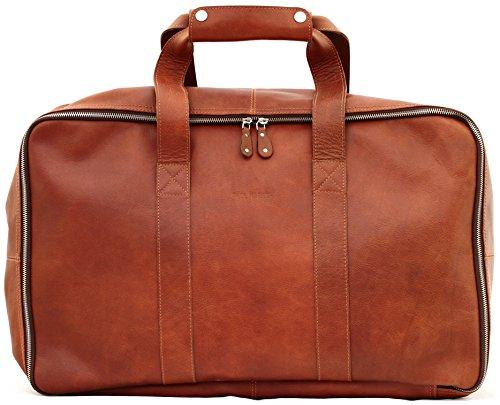 LE GLOBE TROTTER borsa di pelle, borsa da viaggio marrone PAUL MARIUS