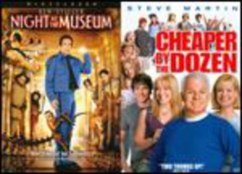 Night at the Museum/ Cheaper By the Dozen 2Pak (Side By Side Packaging, 2PC, Sensormatic)