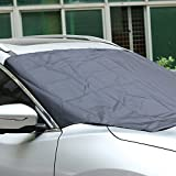 AUTOLOVER Universal Windshield Sun Shade Magnetic Windshield Cover for maximum UV and Sun protection, Car Windshield Snow Cover with Storage Pouch Fit For Truck SUV And Most Vehicles 57''x82''