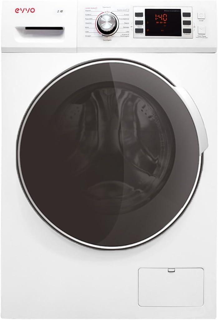 EVVO 3.10-4 años de garantía - 10 KG y 1600 RPM [Eficiencia Energética: A+++ (-30)] - Marca Española - Color Blanco