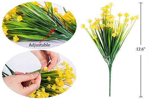 Foraineam-10-Bundles-Yellow-Daffodils-Artificial-Flowers-Fake-Plants-Plastic-Bushes-Greenery-Shrubs-Fence-Indoor-Outdoor-Hanging-Planter-Home-Garden-Decor