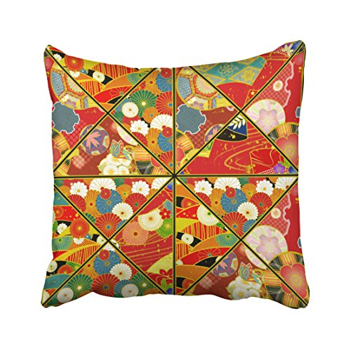 Shorping Zippered Pillow Covers Pillowcases 16X16 Inch asian floral patterns kaleidoscope pillow Decorative Throw Pillow Cover ,Pillow Cases Cushion Cover for Home Sofa Bedding Bed Car Seats Decor 51 eIgOSjuL