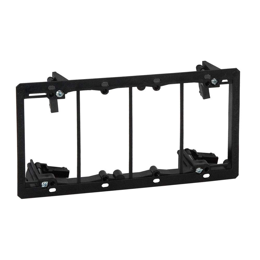 ARLINGTON INDUSTRIES LV4 2477657 Low Voltage Mounting Bracket for Existing Construction, 4 Gang, Black
