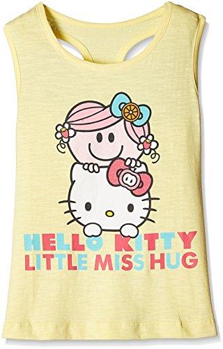 Hello Kitty Girls' T-Shirt (HL0EGT814_Buttercup Yellow Ao_4 - 5 years)