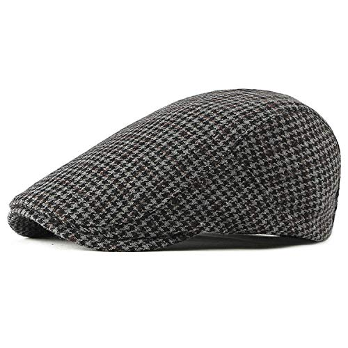 MEIZOKEN Newsboy Caps Summer Octagonal Caps Hats Men Women Breathable Berets 5 Solid Colors,Black,55-59cm (Charlie Hat Womens Adjustable)