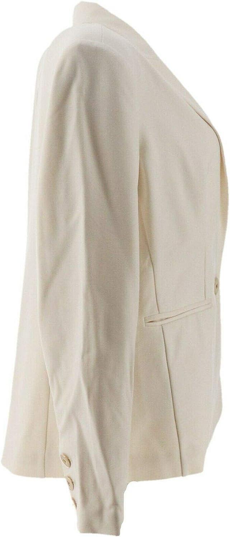 Regular 4 Ivory Laurie Felt Knit Ponte Blazer