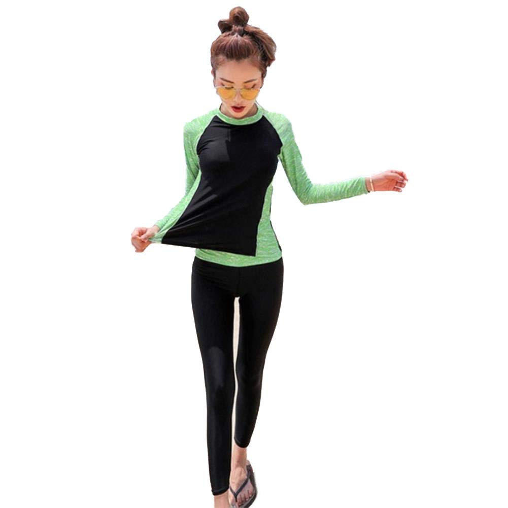 gKGlWC Women Sport Swimwear Long Sleeve with Long Leg Pants ing M-4XL Bathing Suit Plus Size