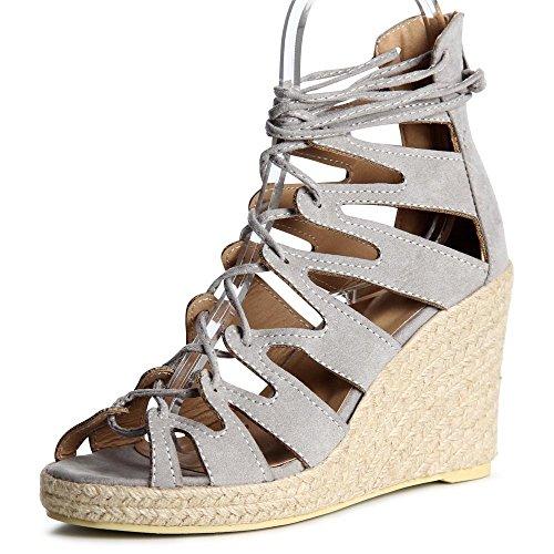 topschuhe24 - Zapatos de vestir para mujer gris