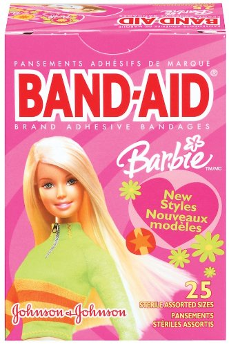Band-Aid Brand Adhesive Bandages, Barbie Decorated, Assorted, 20 Count (Pack of 3)
