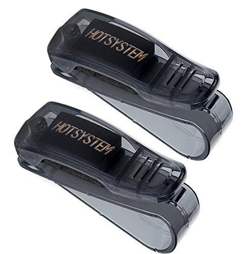 HOTSYSTEM Auto Brillenhalter Sonnenbrillenhalterung für PKW LKW KFZ Sonnenblende Brillenablage 2 Stück