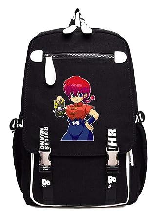 Cosstars Ranma 1/2 Anime Mochila Escolar Estudiantes Mochila para Portátil Backpack Bolsa Casual -1: Amazon.es: Equipaje